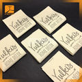 personalized high density organic cotton woven labels for garment