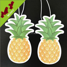 Various scents custom hanging paper air freshener