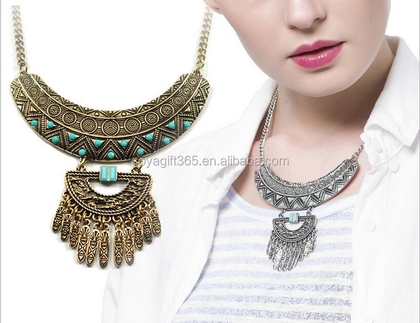Bohemian Necklace Collar Choker Necklace Vintage Ethnic Statement Necklace For Women