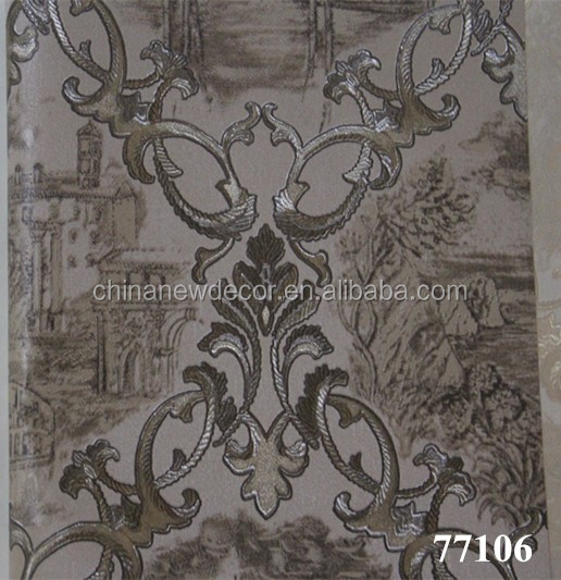 Italian Design Wallpaper Heavy Embossed Vinyl Wallpaper