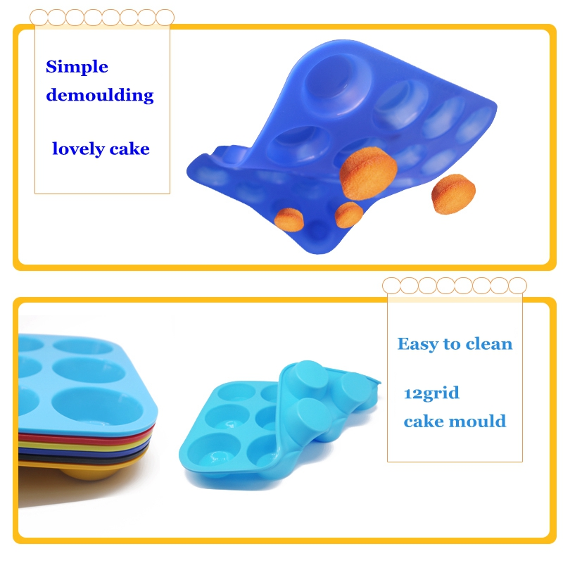 Hot Sale Cupcake Baking Pan Set Bakeware Trays Silicone Cake Mold