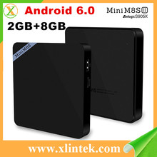 Black box internet tv receiver Mini M8S II S905X 2G/8G/4K Android 6.0 KODI 16.0 download user manual for android Mini M8S II tv