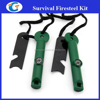 Wholesale Whistle Compass Fire Starter With Magnesium Flint Firesteel