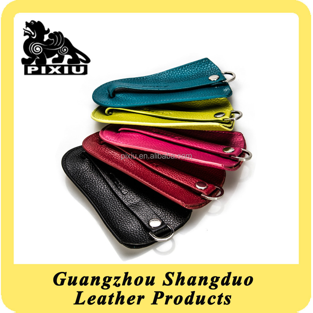 New Design Lychee Pattern Genuine Leather Key Holder Case