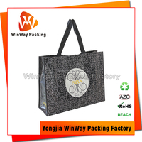 Velcro Closure Laminated PP Woven Shopping Bags