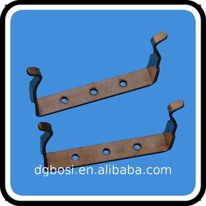 Easy to install Metal Leaf Plate Stamping Parts Suppliers Flat Clip with arc chute