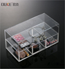 makeup set home decor acrylic display box with finger drawer