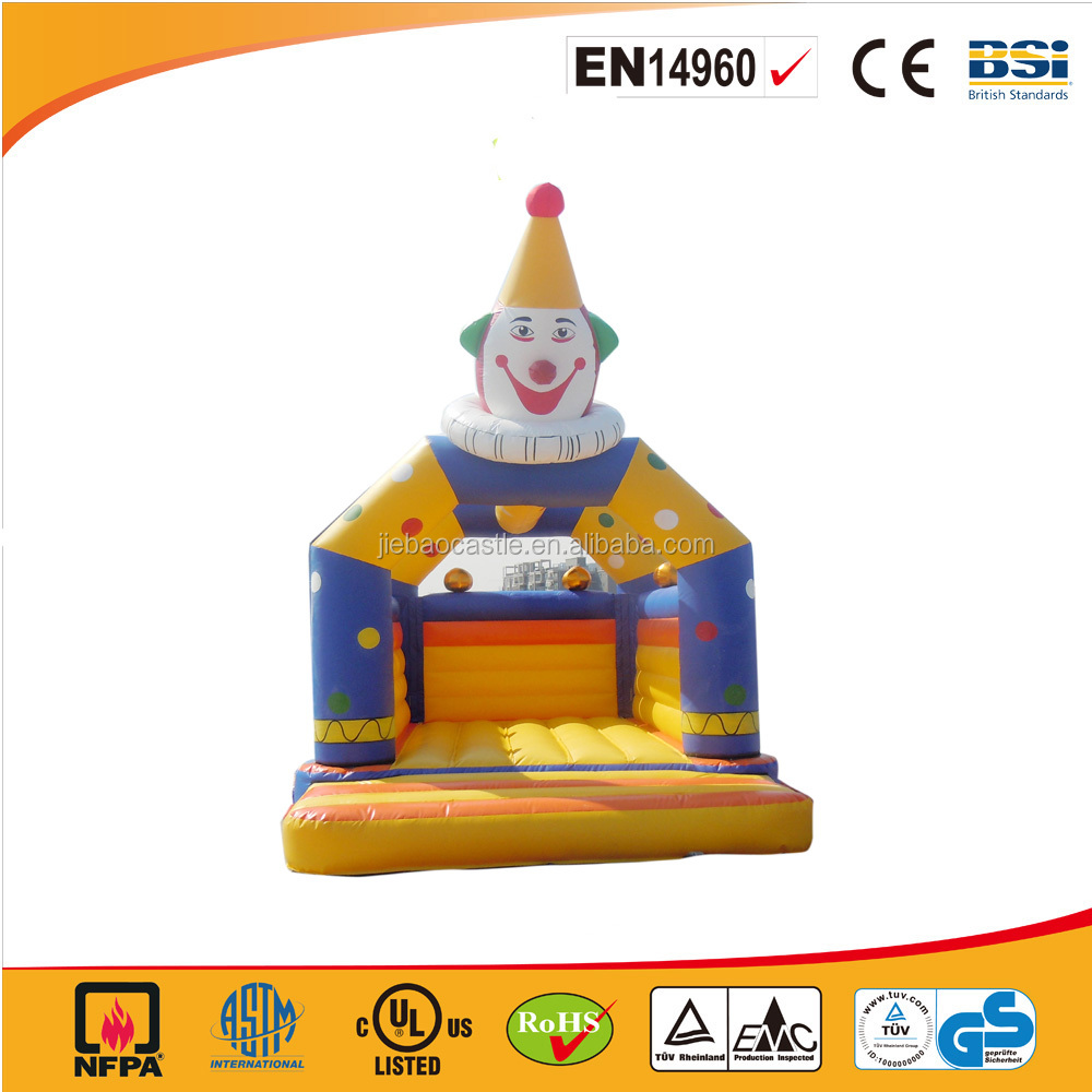 Family use cheap funny clown inflatable bouncer castle/inflatable jumping castle