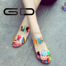new fashion popular rainbow appliques women sandals