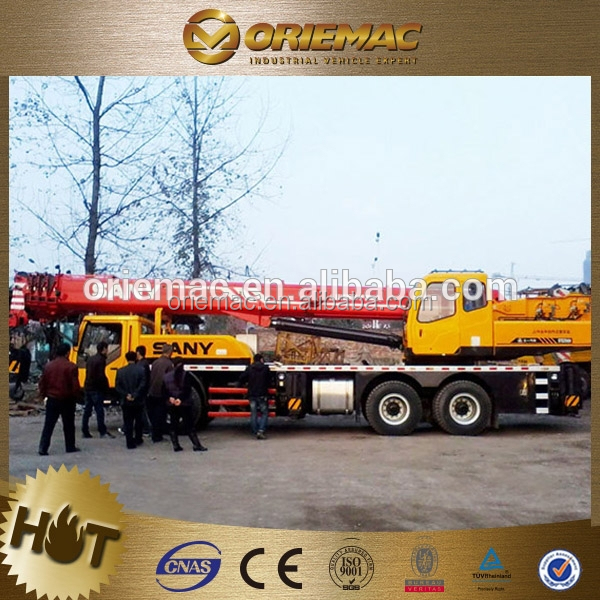 SANY crane truck with flatbed brand truck mounted crane manufacturer 100ton hydraulic truck crane