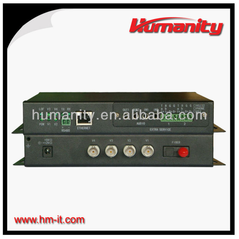 4ch video multiplexer, audio transmitter and receiver
