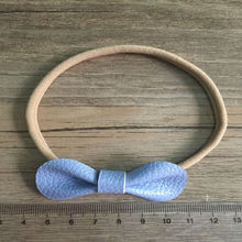 Baby girl plain band fashion leather in stock hair bow headband hair accessory