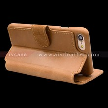 for Iphone 7 Tan Leather Wallet Case with Card Slots