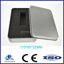 Natural color usb storage tin case metal usb flash driver memory tin box