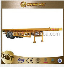 U shape 2 axles rear tipping truck trailer/twin axles dump semi trailer , truck trailer spare parts