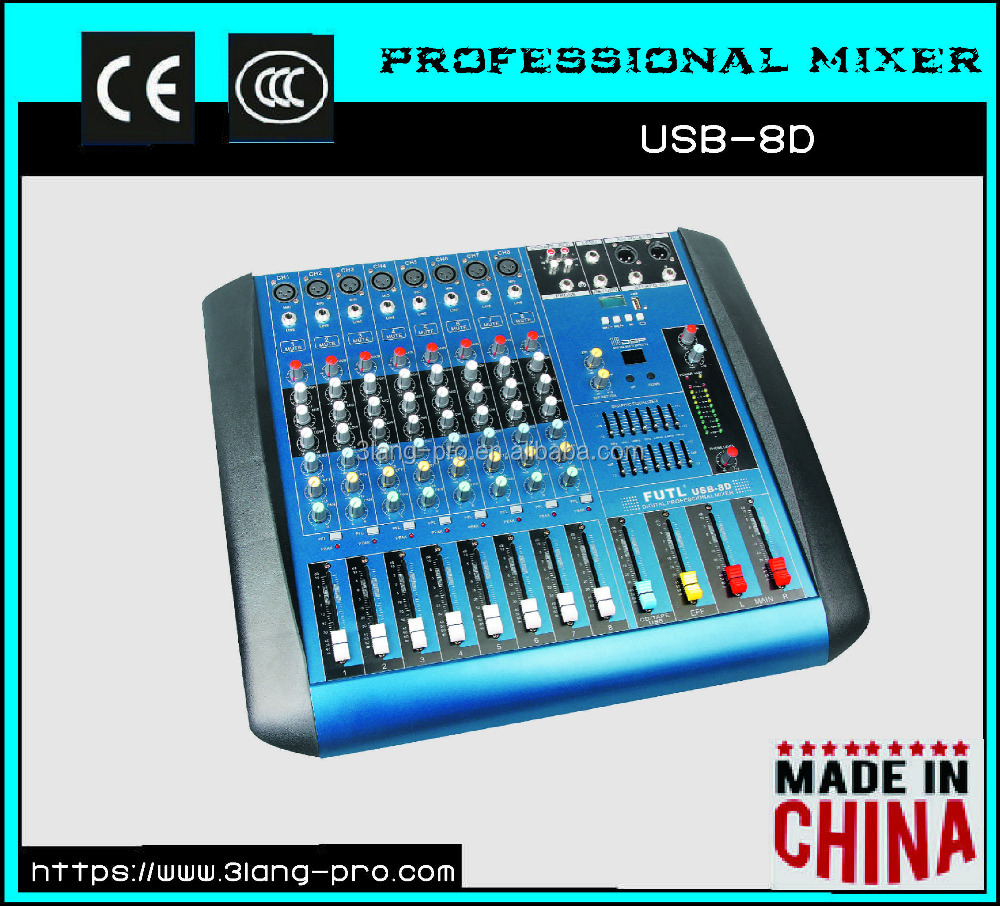 USB Series Built-in power amplifier professional audio sound DJ mixer console