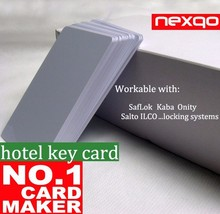 Suitable with major locking system, Nexqo Plastic RFID/ Magnetic stripe hotel key card