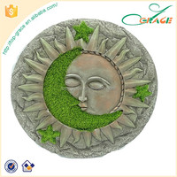 Resin sunface Stepping Stone for Garden Decoration