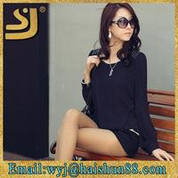New design ladies garments,cutwork blouse,womens clothing chiffon tops