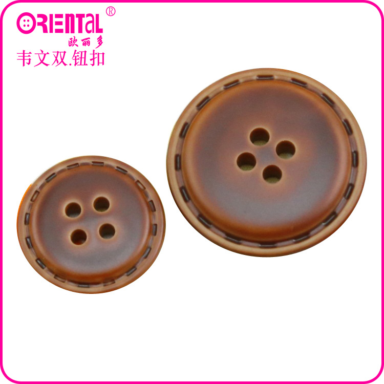 oriental factory imitation leather button with Oeko-tex certificate