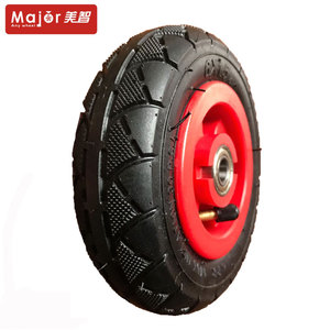 6 inch plastic rim pneumatic rubber tire toy wheel for kids wagon cart