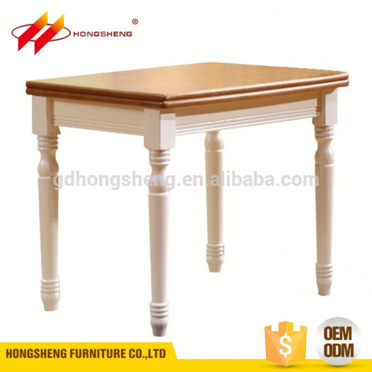 guangzhou furniture manufacturers ready to assemble solid wood dining table set