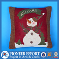 Snowman cushion in red color for christmas decoration