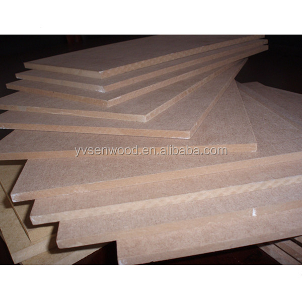 thin MDF board 4mm 5mm 6mm plain melamine MDF sheet