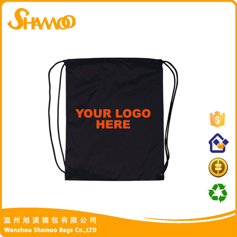 High quality portable custom made printed drawstring backpack
