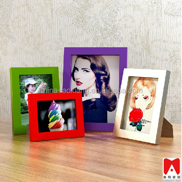 Colourful Plastic Picture Frame 4x6 5x7 6x8 8x10 led photo frame with hot open sexy girl sex pictur