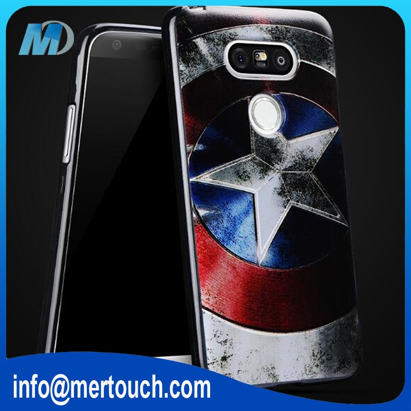 hot selling OEM superman spider-man batman Captain America clown pattern cover case for LG G5
