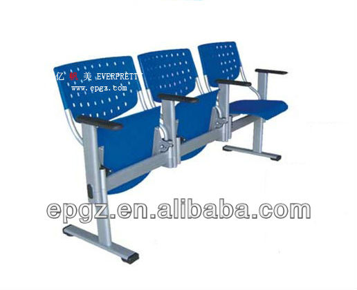 Waiting Room Bench, Upholstered Waiting Room Bench With Writing tablet upholstered Waiting Room Bench