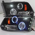 For Dodge Ram 1500 LED Headlight Blue Color Angel Eyes 2009-2012 Year SN