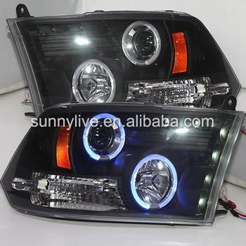 for dodge ram 1500 led headlight blue color angel eyes. Black Bedroom Furniture Sets. Home Design Ideas