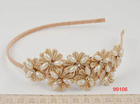 2014 new design fashion flower hairband women fancy elastic hairband wholesale on factory price