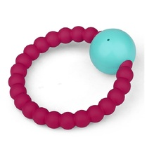 Baby Chew Bead Bracelet Food Safe Silicone Teething Kean Jewelry Wholesale