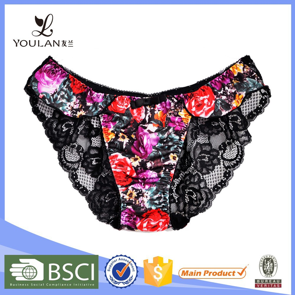 Fashion Design Delicate Hot Girl Blak Lace Panties Sex Man/Sexi Panty Man