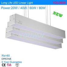 LED flat tube 20w 40w customized recessed LED linear light
