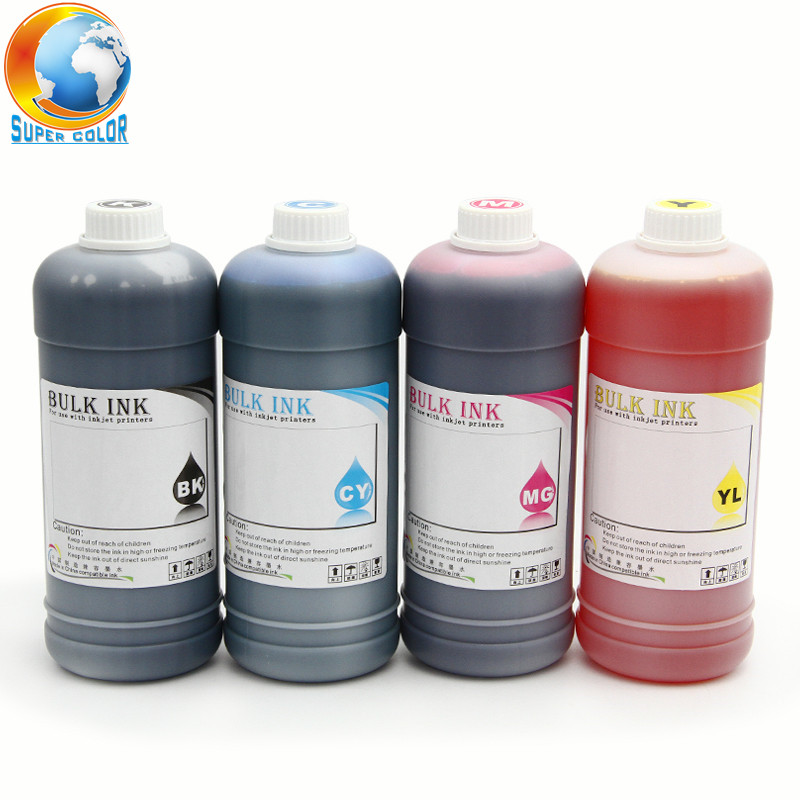 Supercolor 1000ML/Bottle Universal Dye Ink 4 Colors For Brother Desktop Printer