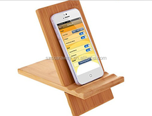 Desktop mobile phone stand wood Cute phone holder for display
