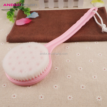 2017 new design round head long handle cleaning bath body brush