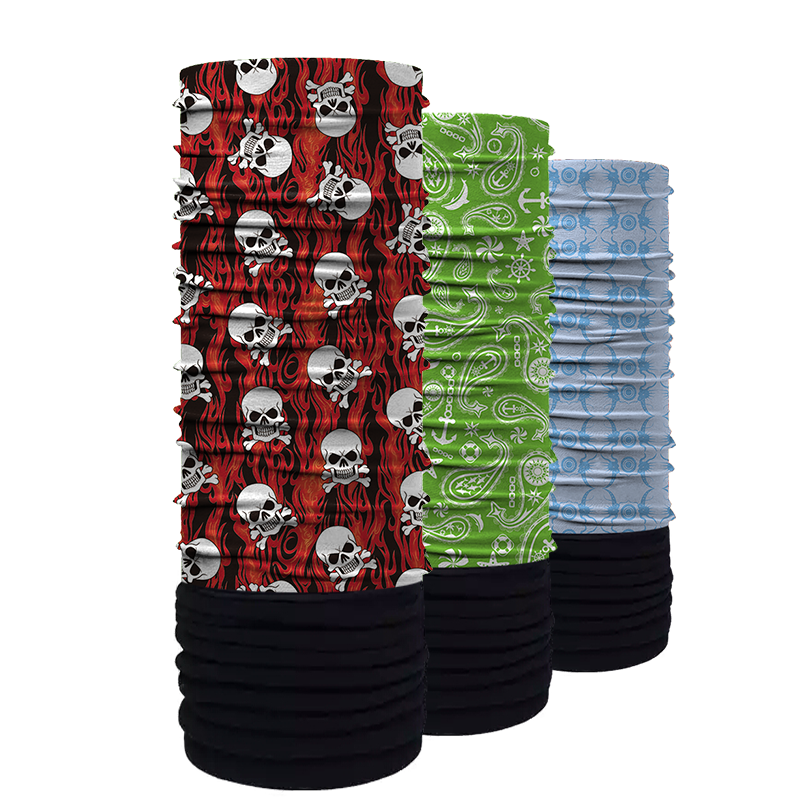 High quality custom multifunctional tube bandana design your own logo polyester bandanas headwear skull bandana cap