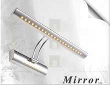 Contemporary and contracted fashion creative bent pipe stainless steel bathroom mirror cabinet LED lights headlight lamps lamp