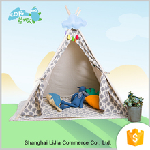 Soft Cotton Linen Play Wood Kids Play Tent House/Wood Frame Tent