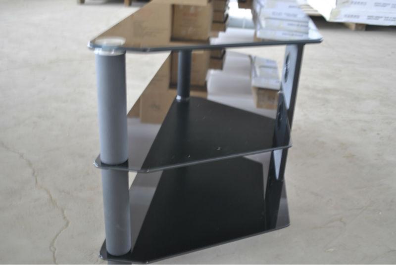 ecke billige tv rack klarglas lcd tv einheit tv m bel. Black Bedroom Furniture Sets. Home Design Ideas