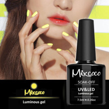 Mixcoco 24Colors Glow in the Dark UV Gel Nail Gel Polish