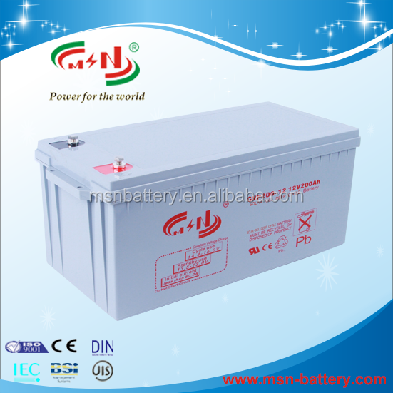 12v 200ah lead acid battery UPS rechargeable deep cycle for solar system
