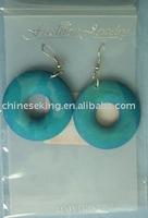 simple loop wood earring, color paint wood jewelry
