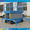 12m electric /diesel/battery power four-wheel towable hydraulic scissor lift
