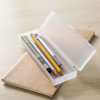 Japanese Style Wholesale Clear Plastic PP Pencil Box Case